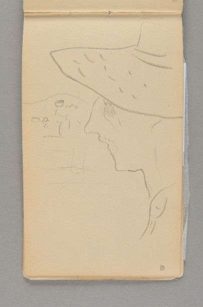 """Pierre Bonnard, 1867-1947 Carnet dit de la """"Revue Blanche"""", 1894-1899 (ou 1896) Carnet..."""