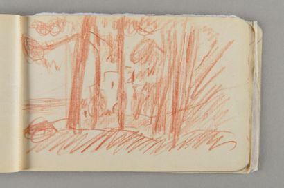"""Pierre Bonnard, 1867-1947 Carnet dit de """"Rome"""" ou """"Hiver 1921"""" Carnet à couverture..."""