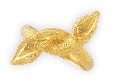 BAGUE en or jaune sertie de deux serpents...