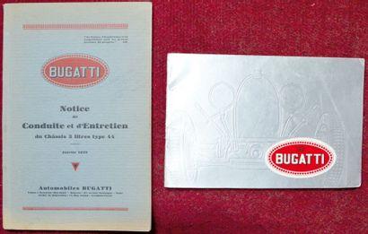 Bugatti Notices Notice de conduite et d'entretien...