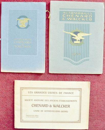 Chenard & Walcker avant 1914 Plaquette de...