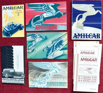 Amilcar debut des 30's Catalogue 12 pages...