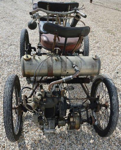 c1901 PHEBUS Quadricycle à moteur De Dion Bouton n° 1611 A immatriculer en collection...