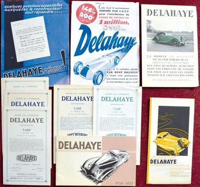 Delahaye Depliant 3 volets sur papier fort...