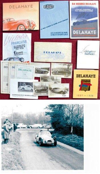 Delahaye - Plaquette de 8 pages, livre d'or...