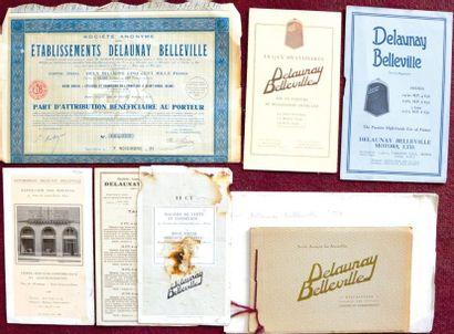 Delaunay Belleville 2 tarifs depliants 2...