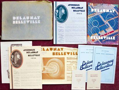 Delaunay Belleville Depliant 4 volets