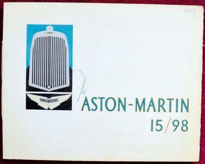 Aston Martin 1937 Catalogue 12 pages avec...