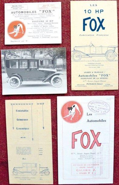 Fox 2 Depliants differents 3 volets