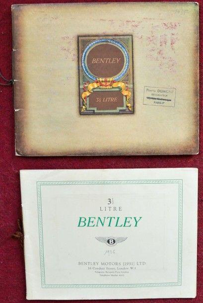 Bentley Catalogue 20 pages avec illustrations...