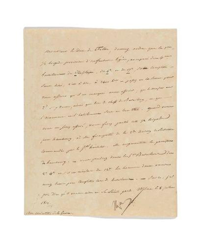 NAPOLÉON IER. Lettre signée «Napo» au ministre...