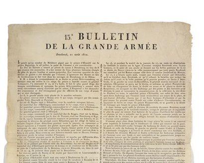 BULLETINS DE LA GRANDE ARMEE. N°13 et n°...