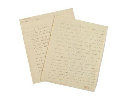 [NAPOLÉON IER]. Lettre manuscrite dictée...