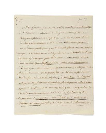 NAPOLÉON IER. Lettre signée «Napole» avec...