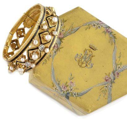 BRACELET en or jaune d'époque Napoléon III,...