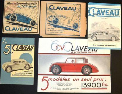 Claveau Dépliant 6 volets sur papier fort,...