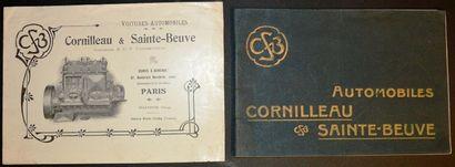 Cornilleau & Sainte-Beuve Dépliant 2 volets,...