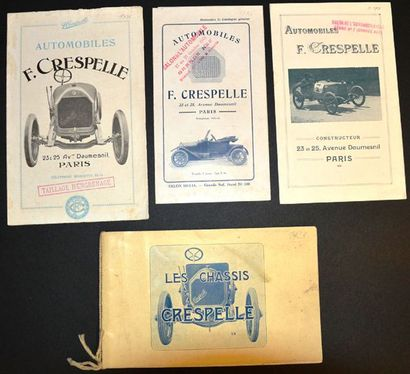 Crespelle Catalogue 4 pages, gamme, 1911...