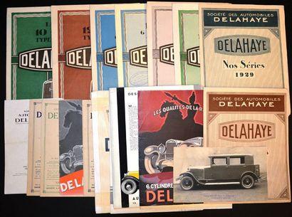 Delahaye 1928 - 1931 Tarif dépliant 2 volets,...