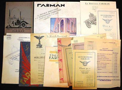 Farman Catalogue 16 pages, reliure cordon...