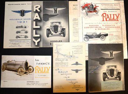 Rally Dépliant tarif 2 volets, voitures 7...
