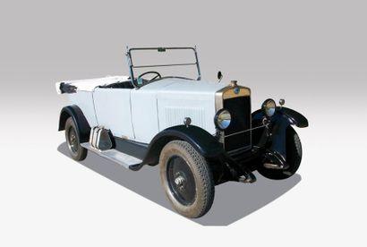 1926 BERLIET TYPE Vi TORPEDO Châssis n° 5077 Carte grise de collection Berliet, célèbre...