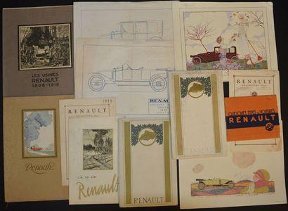 Renault 1919 ? 1920 Dépliant tarif 2 volets,...