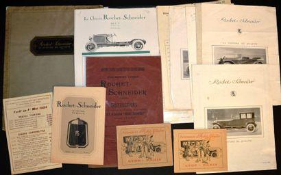 Rochet Schneider, 1913 à 1924 Petit catalogue...