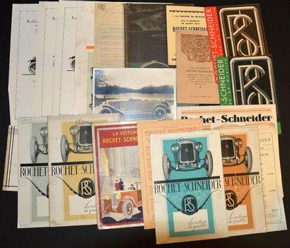 Rochet Schneider 1925 ? 1931 Feuillet R°V°,...