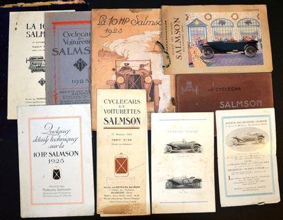 Salmson 1922 ? 1923 Catalogue 16 pages R°...