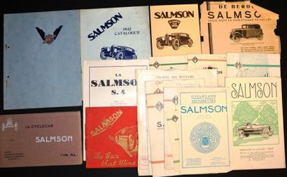 Salmson 1924 à 1929 + Angleterre Dépliant...