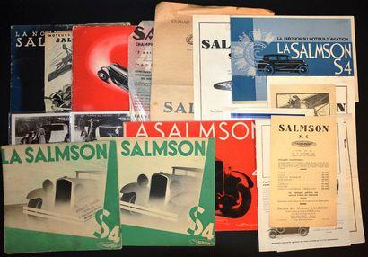 Salmson S4 & S4 C Feuillet R°, Meeting de...