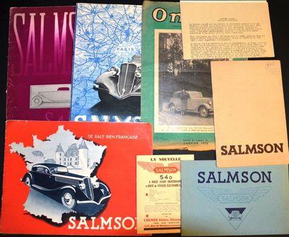 Salmson S4 D & S4 E Catalogue 8 pages sur...