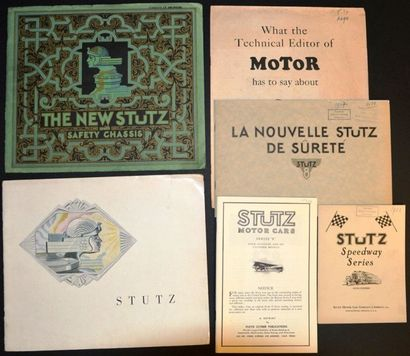 Stutz Années 20 Catalogue 12 pages, Speedway...