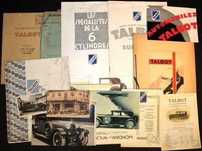 Talbot 1922/32 Dépliant 4 volets, types A...