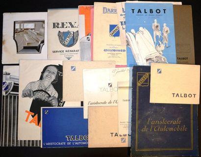 Talbot 1932/36 Catalogue 16 pages, Sté. R.E.V.A....