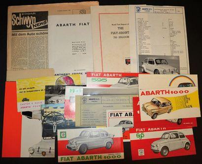 Abarth sur base Fiat 500 & 600 Dépliant 2...