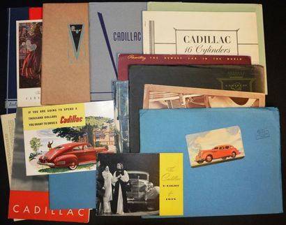 Cadillac années 30 Dépliant affichette 4...