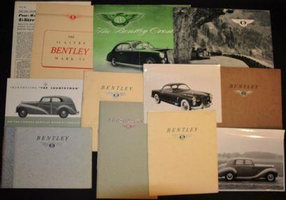 Bentley Mark VI Catalogue 8 pages, tiré à...