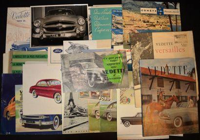 Ford France Vedette Dépliant 4 volets, gamme...