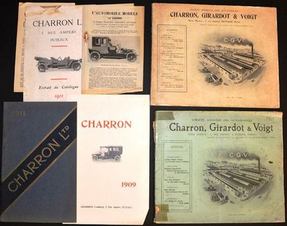 Charron 1904-1911 Gros catalogue 108 pages,...