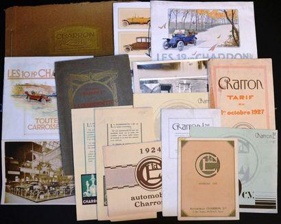 Charron de 1913 aux années 20 Catalogue 8...