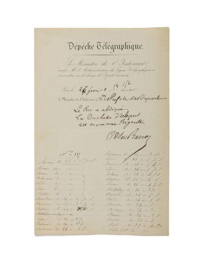 RÉVOLUTION DE 1848. Ensemble de 13 lettres...