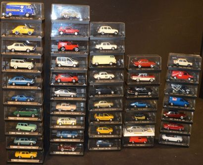 43 Miniatures Solido au 1/ 43 Renault (33),...