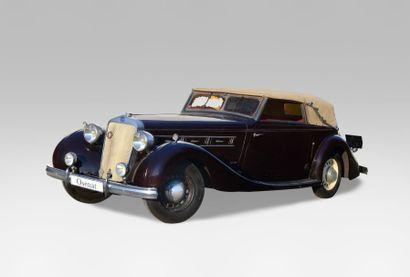 1936 DELAGE D8 Châssis n° 51 597 Carte grise...