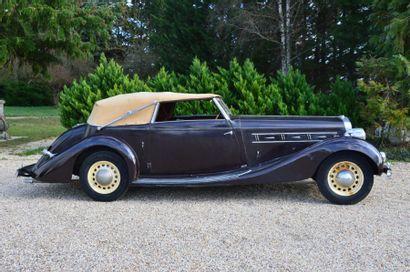 1936 DELAGE D8 Châssis n° 51 597 Carte grise de collection La Delage D8 est le modèle...