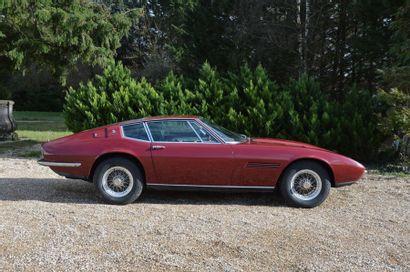 1967 MASERATI GHIBLI 4,7 L Châssis n° AM115*182 Carte grise de collection Au salon...