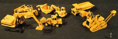 6 Miniatures de chantier Caterpillar