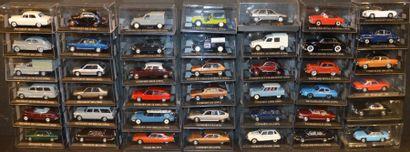 35 Miniatures au 1/ 43 Peugeot, Citroën,...