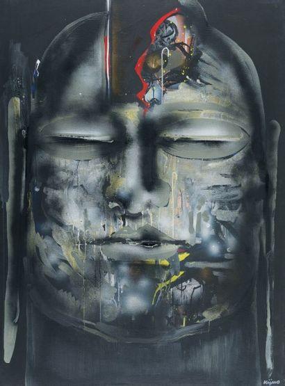 Ladislas KIJNO (1921-2012) Retour de Chine, série des bouddhas de Datong, 1984 technique...